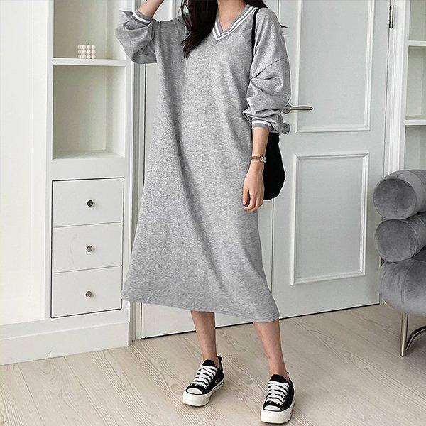 110 요꼬배색베이직원피스 DNOE840 도매 배송대행 미시옷 임부복