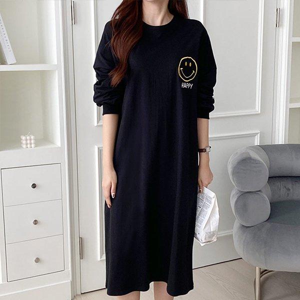 110 심플해피롱코튼원피스 DNOE841 도매 배송대행 미시옷 임부복