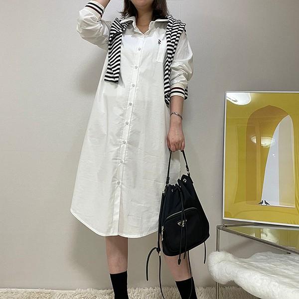 110 요꼬배색롱셔츠원피스 DBSE843 도매 배송대행 미시옷 임부복