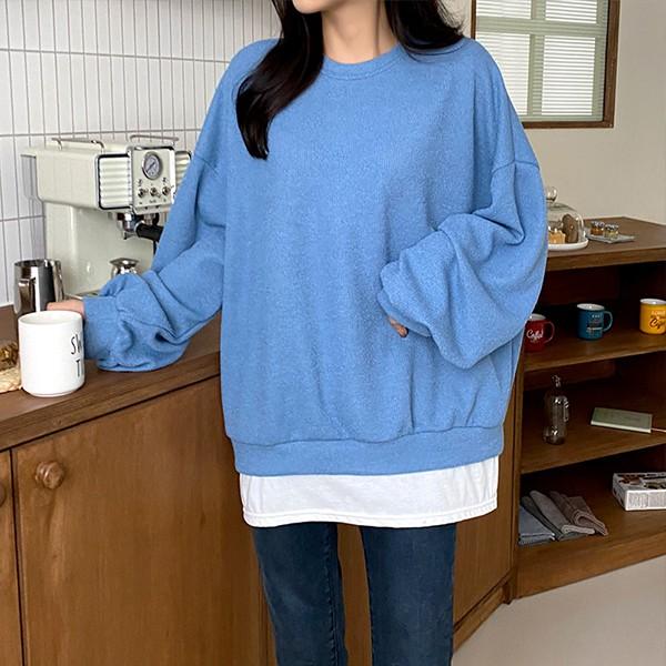 110 레이어드루즈롱맨투맨 DILE855 도매 배송대행 미시옷 임부복