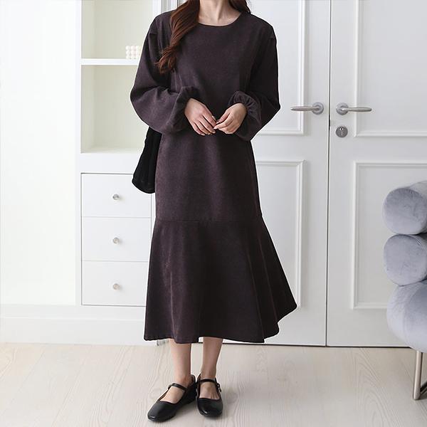110 페미닌라운드롱원피스 DPOE857 도매 배송대행 미시옷 임부복