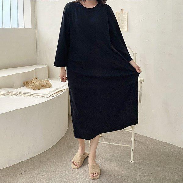 110 심플무지라운드원피스 DZYE870 도매 배송대행 미시옷 임부복